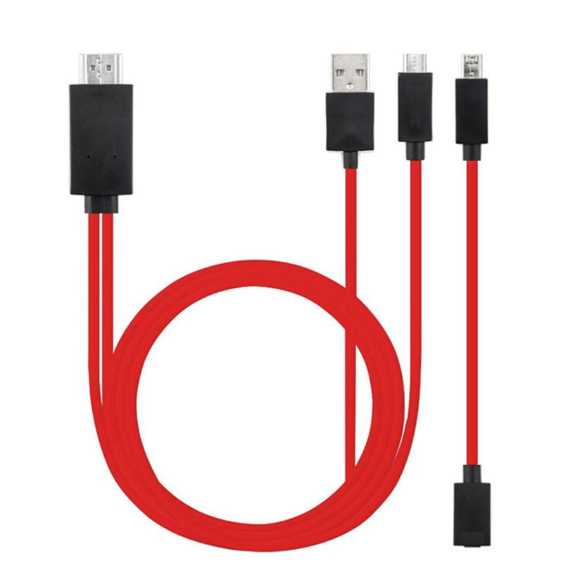 Micro USB MHL to HDMI 1080P HD TV Cable Adapter 5Pin And 11Pin HDMI Cable for Android Samsung Smartphone Tablet TV