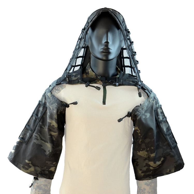 2020 NEW MCBK Sniper Ghillie Airsoft Paintball Ghillie Viper Hood  Multicam Black Foundation Camouflage Assaulter Ghillie