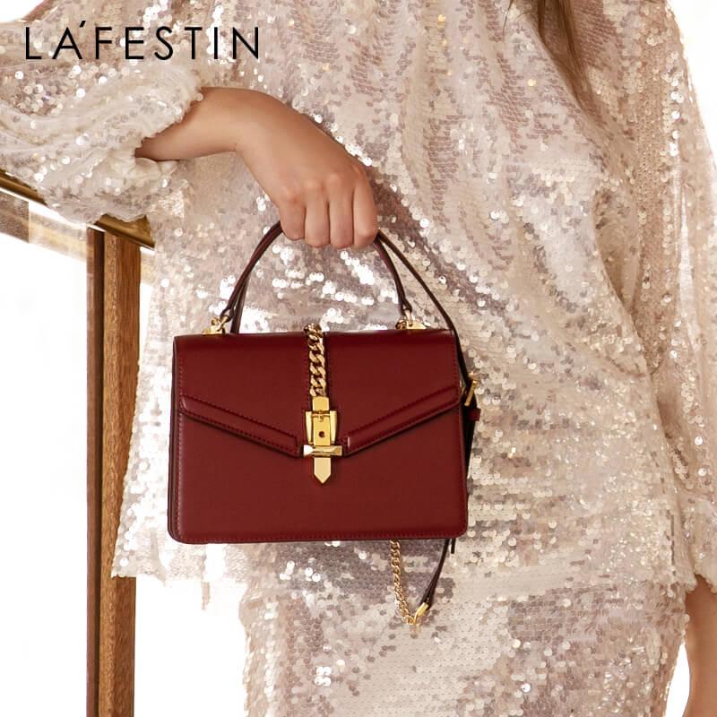LAFESTIN 2020 Early Spring New Women Bag Designer Handbags Large Capacity Shoulder Bag Fashion Crossbody Bag