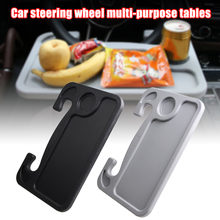 Multifunctional Car Tray Steering Wheel Table Car Desk for Eating Reading Working Laptop Fits Most Vehicles K888