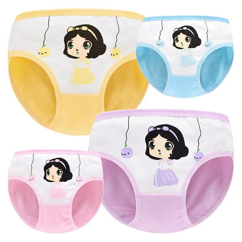 Baby Panties Brief Girls'Triangular Underpants Kids Girls Cotton Triangular Underwear Cartoon Princess Children