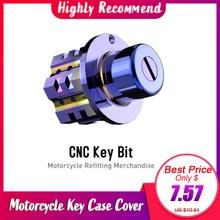 Чехол для ключей от мотоцикла, чехол Blueing DIY Key Bit для CB190R CB190X, крышка для ключа мотоцикла, универсальная часть двигателя