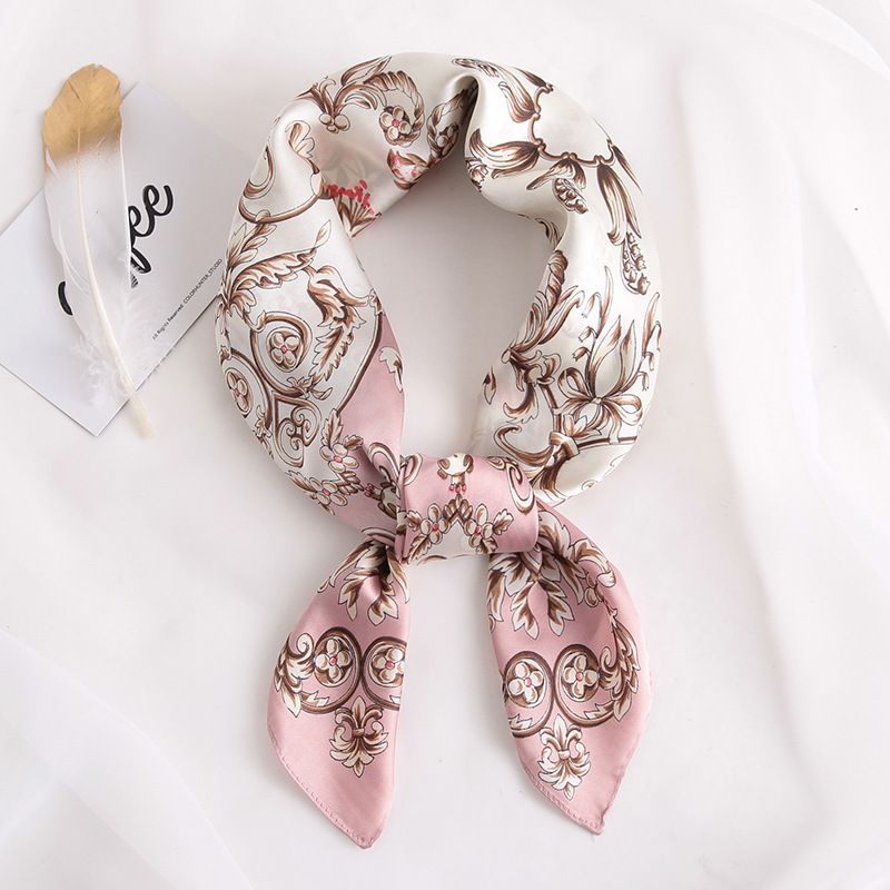 2019 New Silk Scarf Square Women Fashion Work Neckerchife Spring Summer Decorative Scarves 70*70cm Small Scarfs Gift For Lady