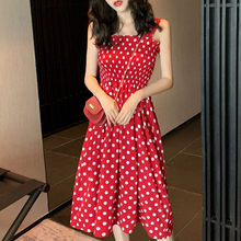 Simple Elegant Button Women Dress Polka Dots Loose Party Midi Dress Summer Casual Sundress Female Plus Size Lady Beach Vestidos(China)