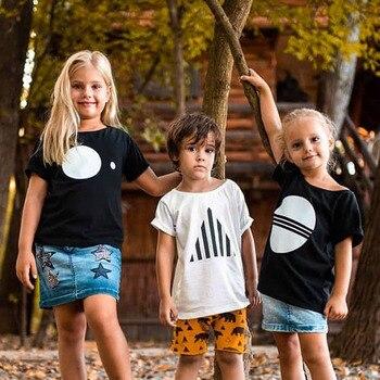 2020 di Nuovo Modo di Bambino Del Bambino Dei Bambini Dei Ragazzi di Estate T-Shirt Ragazze T Shirt A Manica Corta Per Bambini Carino Magliette e camicette Tee 1-8 anno 1