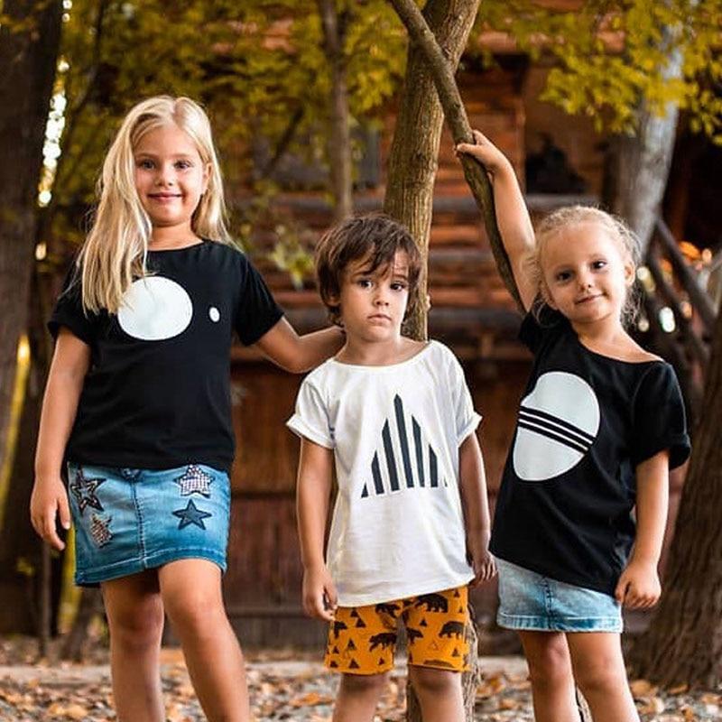 2020 New Fashion Toddler Kids Boys Summer T-shirt Girls Short Sleeve T Shirt Children Cute Tops Tee 1-8 Year