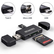 Lector de tarjetas SD, lector de tarjetas USB 3,0, Micro TF, SD, adaptador de tarjeta de memoria inteligente tipo C, lector de tarjetas USB 2,0, Micro OTG para ordenador portátil