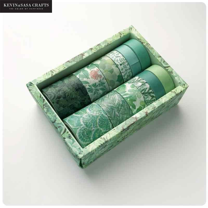 12 sztuk/zestaw zestaw taśm Washi Diy taśma maskująca śliczne naklejki przybory szkolne papiernicze prezent prezentowany przez Kevin & Sasa Crafts