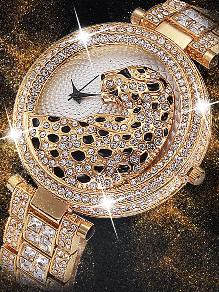 MISSFOX Women Quartz Watch Fashion Bling Casual Ladies Watch Female Quartz Gold Watch