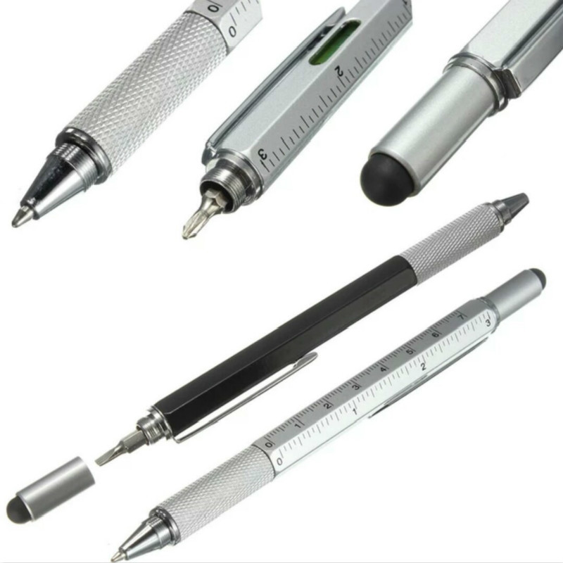 Multi-tool With Screwdriver With Capacitive Touch Screen Head, With Scale Gift Ball Pen Screw Driver