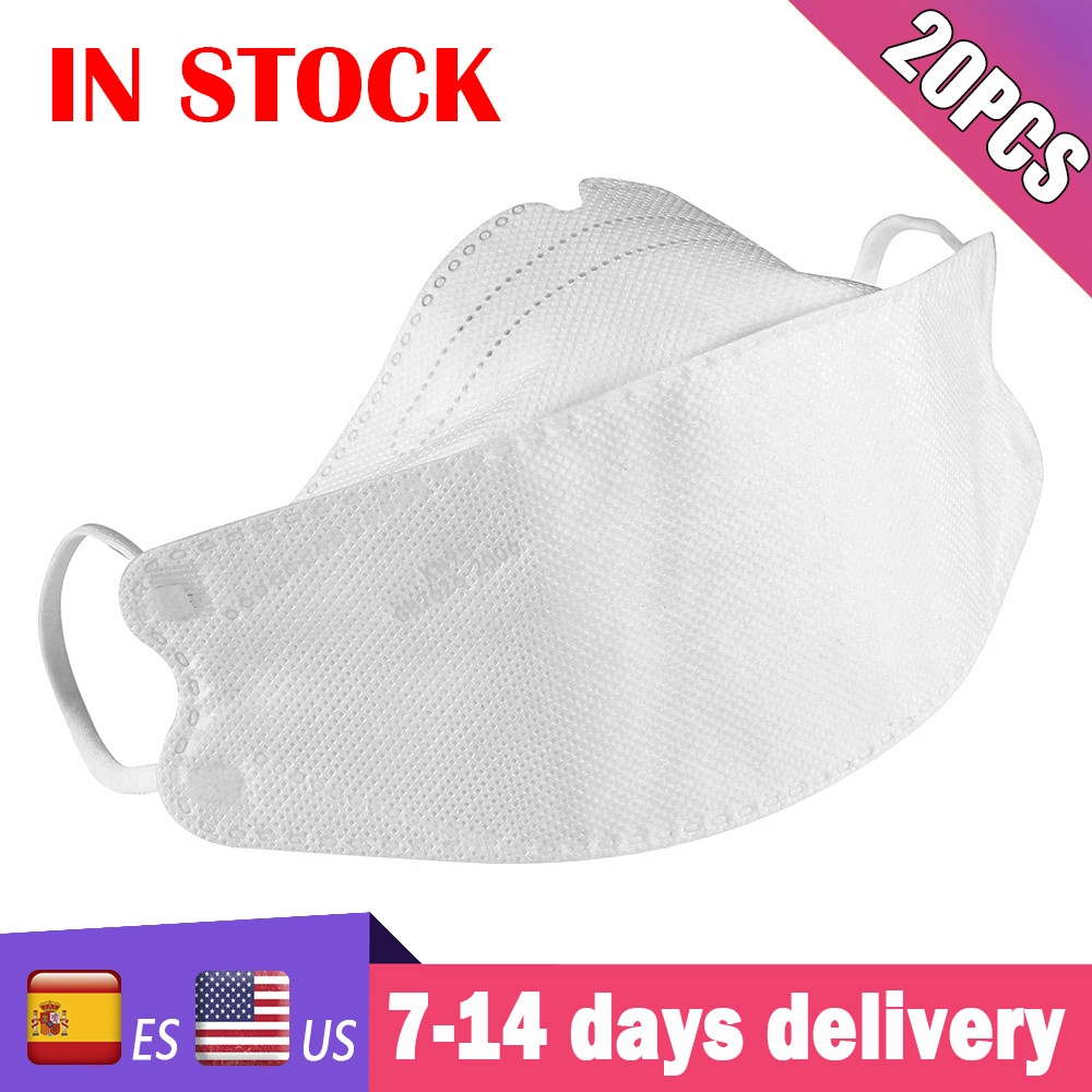 100pcs Earloop Anti PM2.5 Nonwove Mask Face Mask 4 Layers Filter Dust Mask Face Masks Mouth Cover Anti Dust Mask Mascarilla