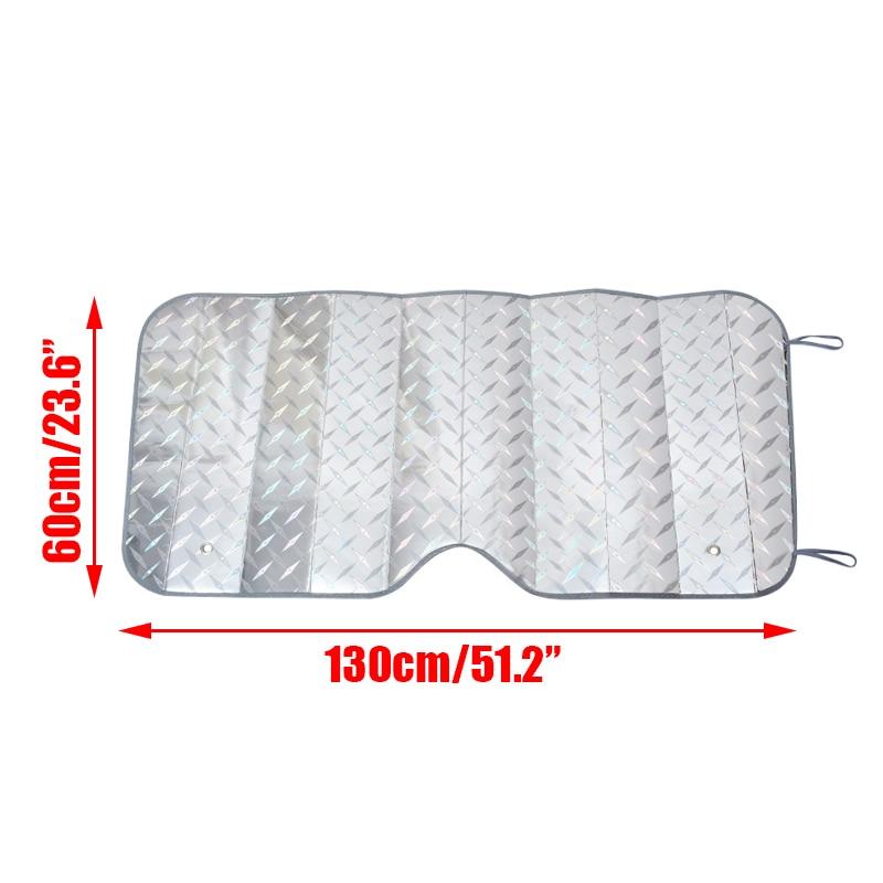 1PC 130*60cm Front Rear Car Windshield Sunshade UV Protect Window Sun Shade Sunshade Visor Film For Car Window Auto Accessories