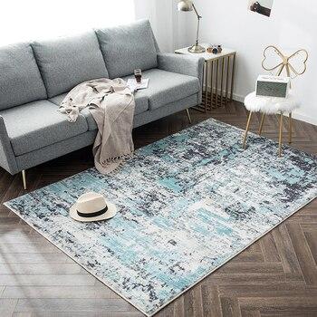 Alfombra Rectangular suave para el hogar y la sala de estar, alfombrillas...