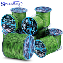 Sougayilang 150M-550M 4 Strand Super Strong Braid Fishing Line Spot Camouflage Line Invisible Multifilament Carp Fishing Wire