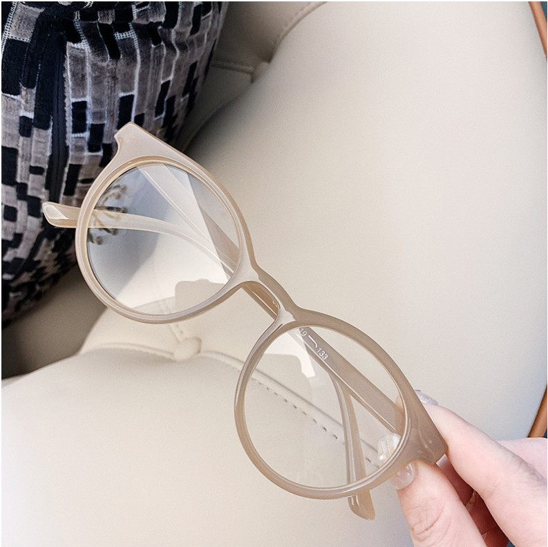 Hc8fd2216ccf4488b806771c949545f8eD - VWKTUUN Round Glasses Frame Vintage Soild Candy Color Eye Glasses Frames For Women Clear Lens Myopia Computer Glasses