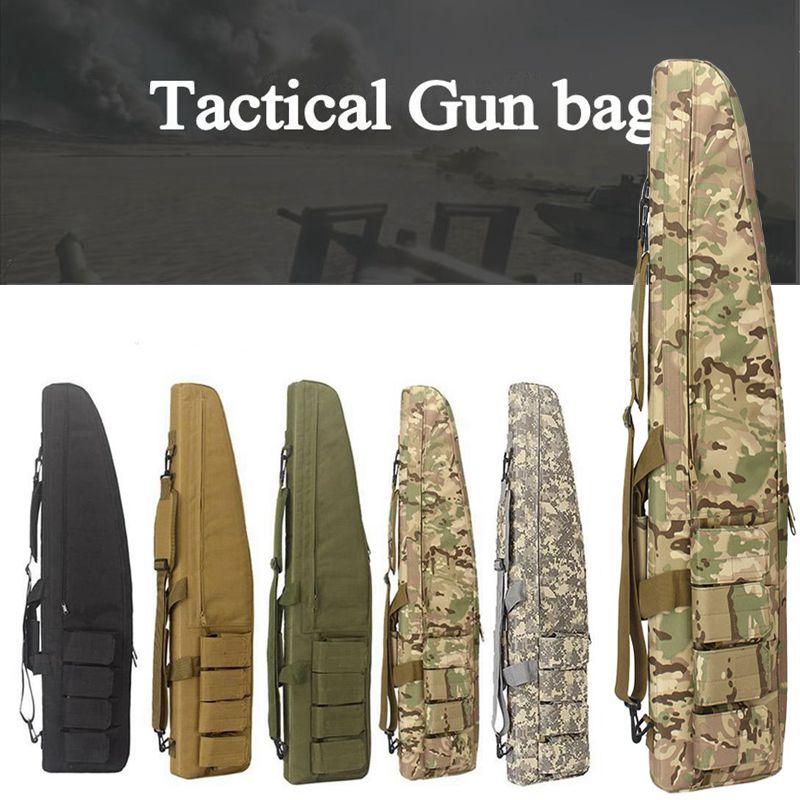 70cm / 98cm / 118CM savaş oyunu taktik silah çantası kayma dayanıklı avcılık ekipmanları silah çanta hava tüfek kılıfı sırt çantası
