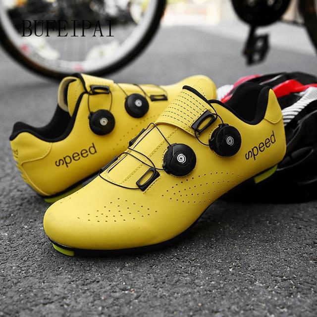 2020 ciclismo de estrada sapatos de ciclismo de bicicleta homem não-bloqueio de corrida respirável ultraleve profissional tênis de bicicleta mulher 1