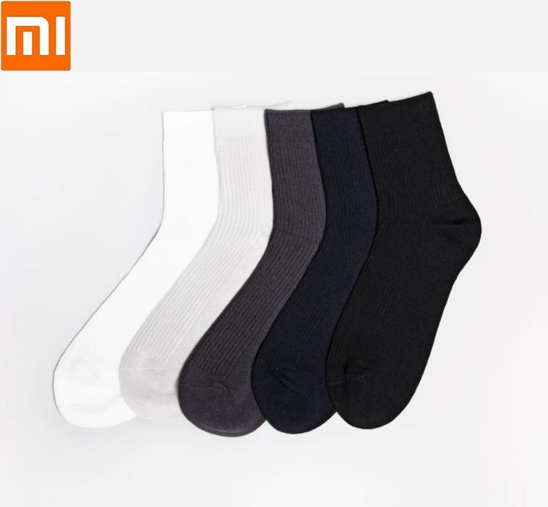 Xiaomi New 365WEAR Silver Ion Antibacterial Deodorant Socks Breathable Cotton Warm Socks Men Mid Stockings Wear Resistant