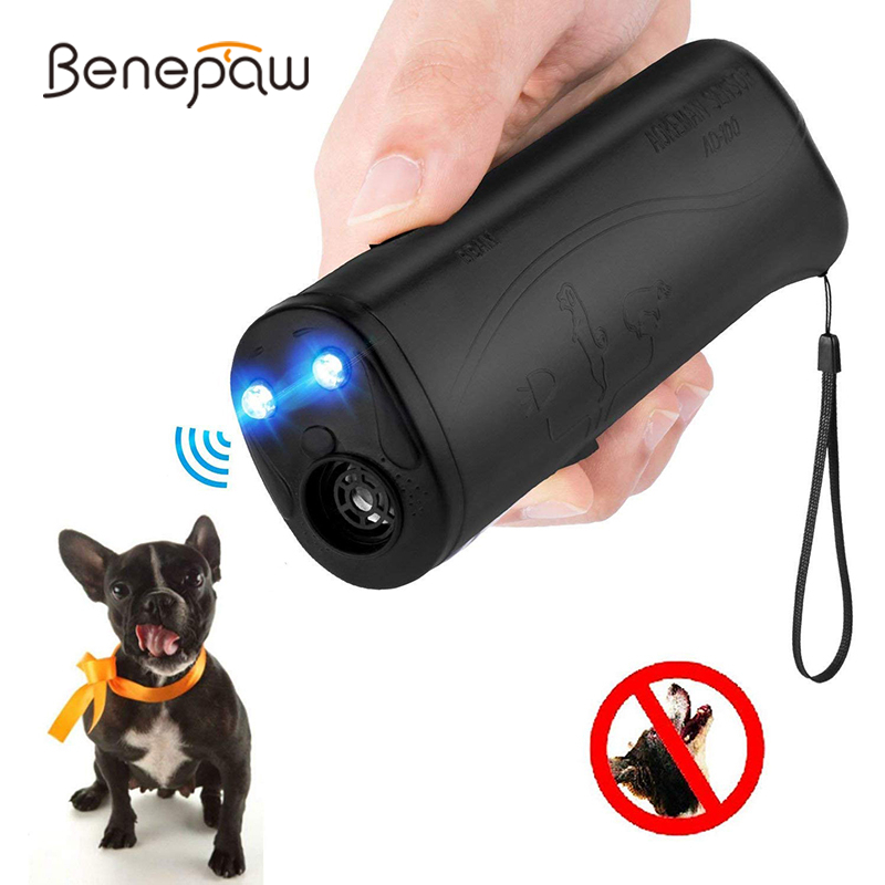 Benepaw Handheld Ultrasonic Dog Repellent Chaser LED Flashlight Safe Effective font b Pet b font Training