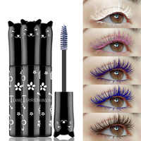 6 Color Mascara Waterproof Fast Dry Eyelashes Curls Extension Make-Up Eyelashes Blue Pink Purple Black White Ink Mascara TSLM1