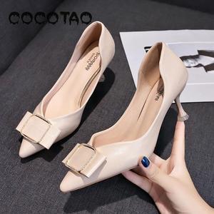 Image 4 - รองเท้าหนังนุ่มรองเท้าผู้หญิงฤดูร้อน 2019 ใหม่JOKERเว็บที่มีชื่อเสียงFairy Diamond PointปากLadle shoes33