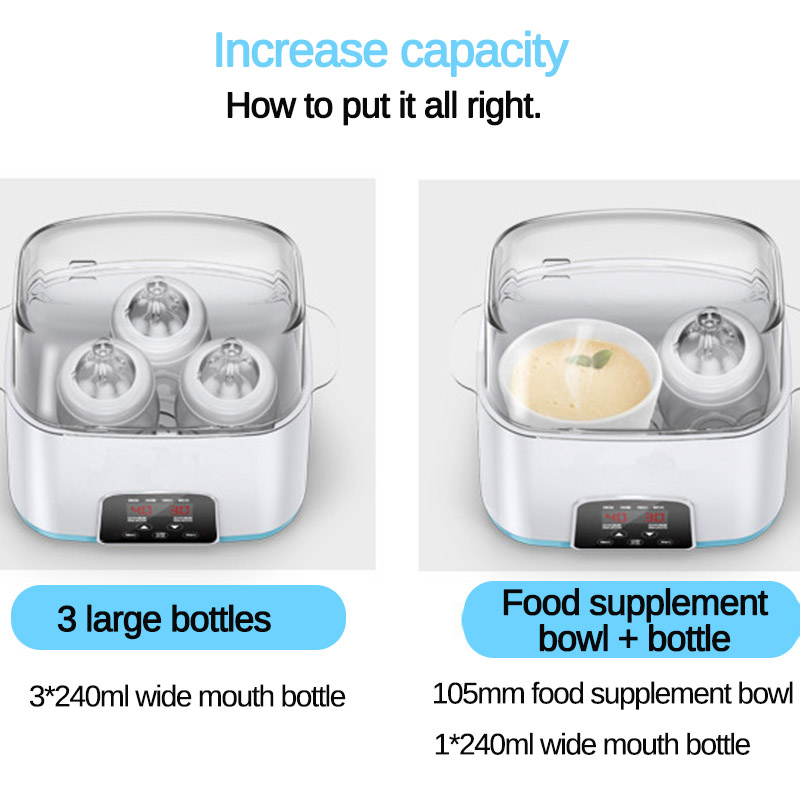 Baby Bottle Sterilizer 6 In 1 Multi function Automatic Intelligent Thermostat Baby Milk Bottle Disinfection Baby Bottle Warmer