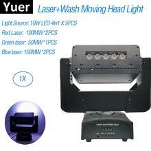 Lumière stroboscopique, lumière à tête mobile 3 en 1 5x10w, lumière Laser DMX512 550MW, projecteur Laser pour fête fête pour DJ