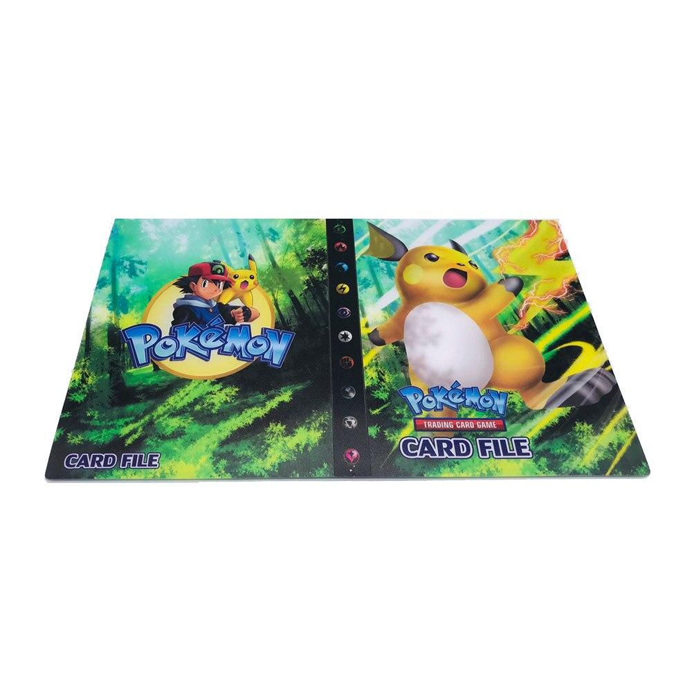 240 шт. держатель Альбом игрушки коллекции Pokemones карты Альбом Книга Топ загруженный список игрушки подарок для детей - Цвет: 14