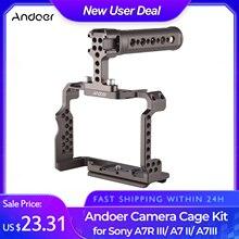 Andoer Aluminium Legierung Kamera Käfig Kit mit Video Rig Top Griff Grip Ersatz für Sony A7R III/ A7 II/ A7III