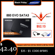 삼성 SSD 860 EVO 250 GB 500GB 내부 솔리드 스테이트 디스크 HDD 하드 드라이브 SATA3 2.5 250 GB 1 테라바이트 인치 데스크탑 TLC 디스코 d