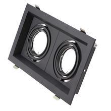 Встраиваемый потолочный светодиодный светильник mr16 gu10 квадратная