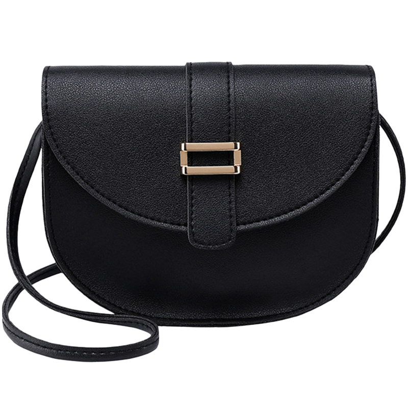Female Bag Semi-Circle Arch Tongue Single Shoulder Mobile Phone Small Bag Black