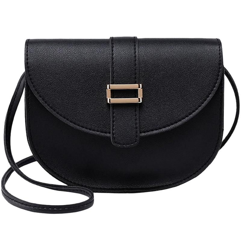 Female Bag Semi-Circle Arch Tongue Single Shoulder Mobile Phone Small Bag Black
