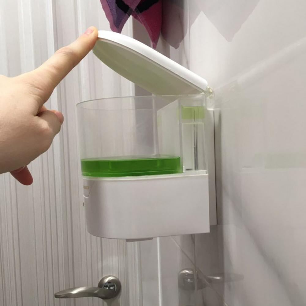 Мыла настенный дозатор Автоматический датчик 600мл ИК креплением жидкости касания