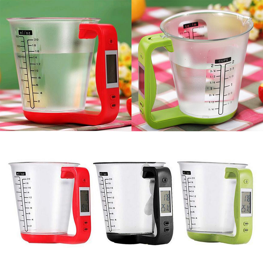 Large Capacity Measuring Cup Kitchen Food Scale Digital Beaker Electronic Tool Scale Digital Display Weight Sensor Measuring Cup