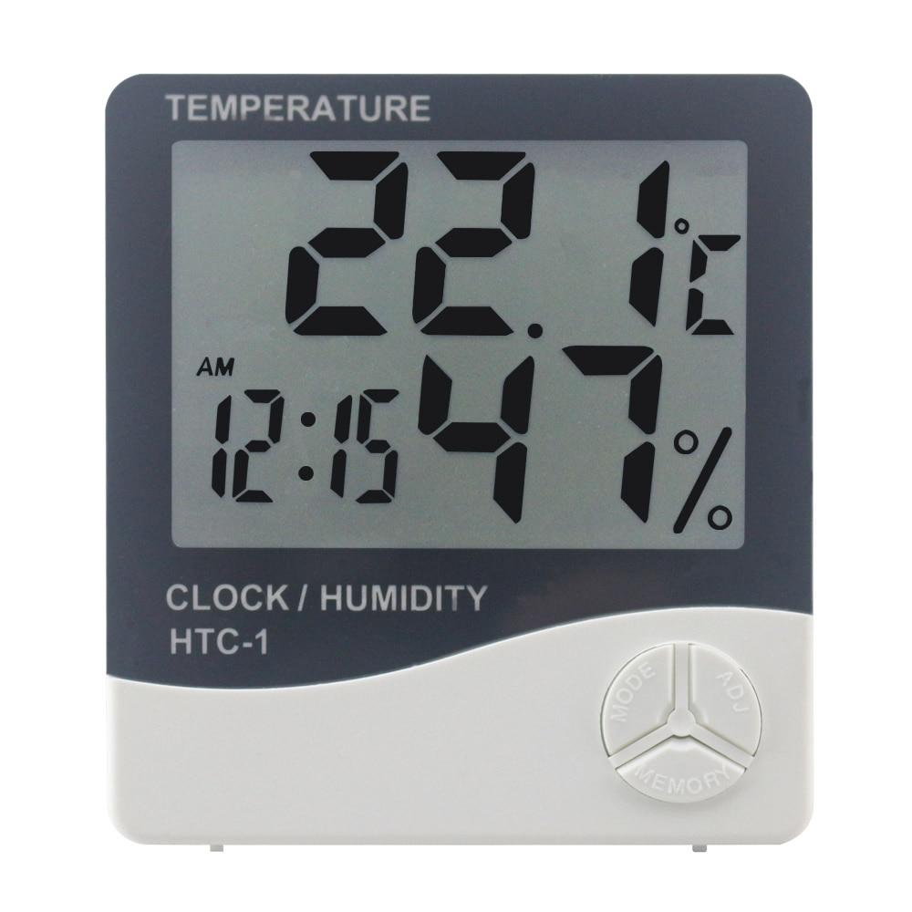 Stacja pogodowa HTC-1 / HTC-8 Wewnętrzny cyfrowy termometr Higrometr - Przyrządy pomiarowe - Zdjęcie 2