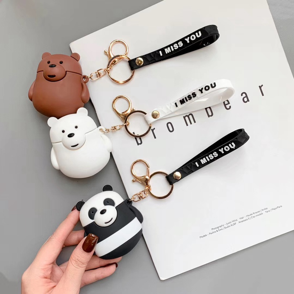 Earphone Case For AirPods Case Cartoon Bear Silicone Cover For Apple Air Pods 2 Cute Earbuds Bag For Earpods Cases Accessoires