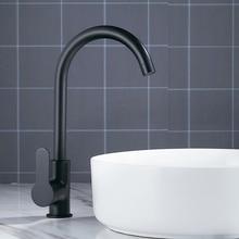 Modern Basin Faucets Black Sink Mixer Taps Kitchen Bathroom Taps Single Lever Faucet Black Basin Mixer