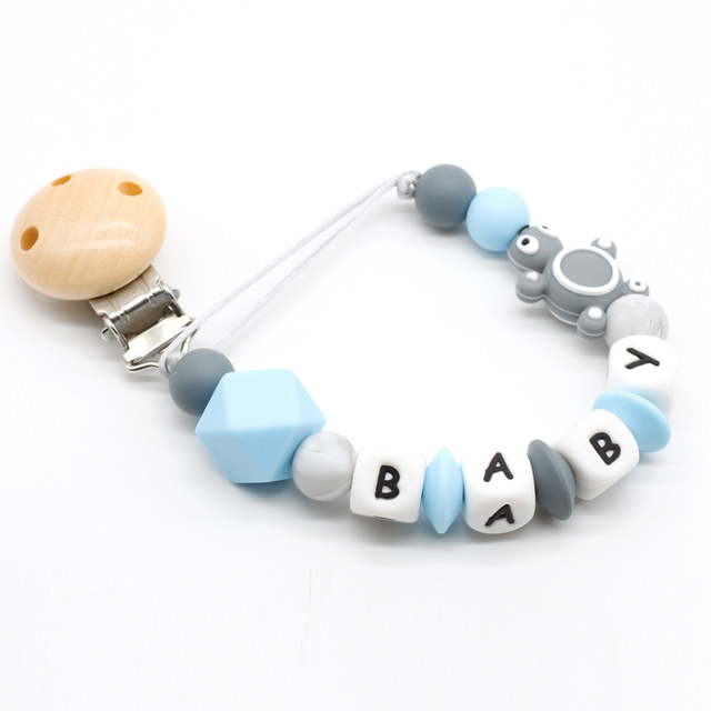 Personalized Name Handmade Pacifier Clips Holder Chain Silicone Pacifier Chains Cute Turtle Baby Teether Teething Chain Gift 1pc