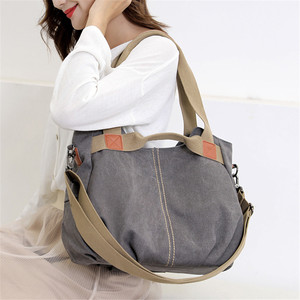 Image 3 - Winter Style Women Canvas Bag Ladies Hand Crossbody Bags For Women High Quality Female Panelled Hobos Shoulder Bag Totes Bolsas