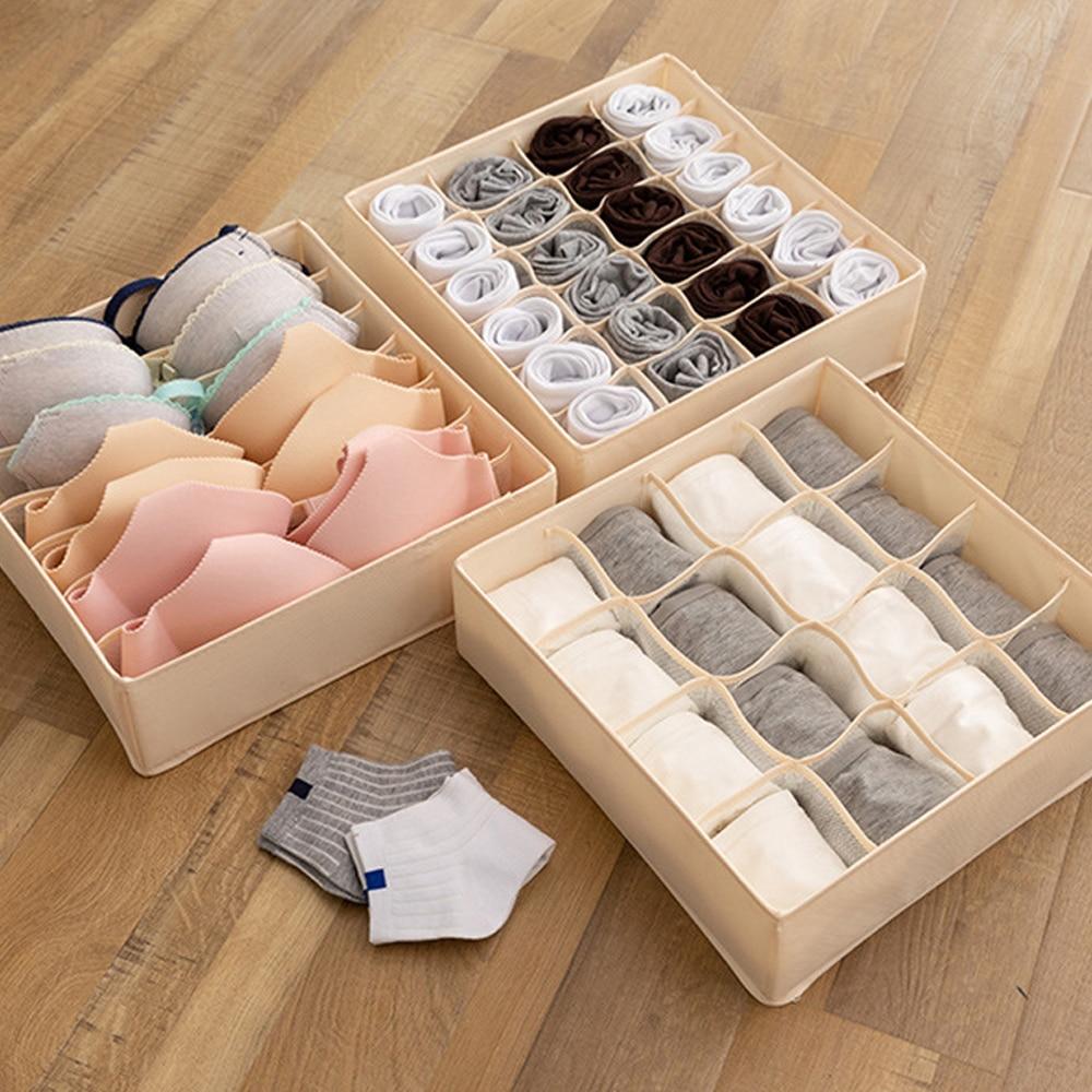 7/16/24grids Storage Boxes Underwear Divider Drawer Lidded Closet Organizer Ropa Interior Organizador For Ties Socks Shorts Bra