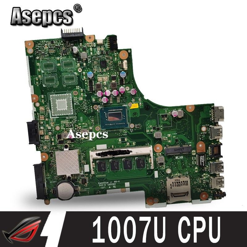 Asepcs For Asus X450CC X450CA Motherboard with 1007U cpu 2GB memory