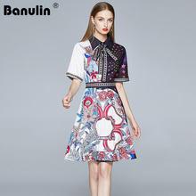 Banulin 2020 летнее модное дизайнерское подиумное цветочное