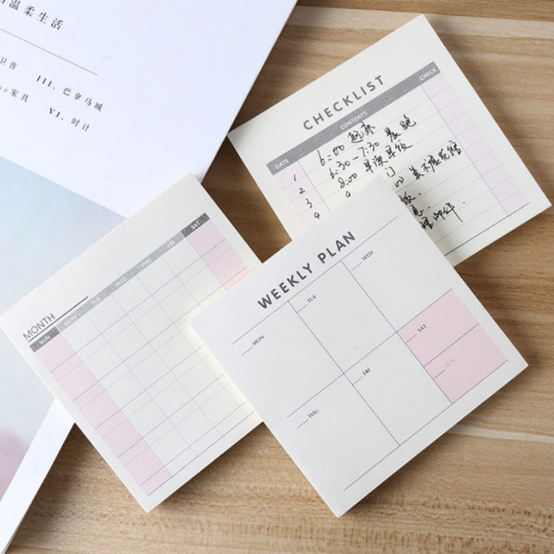 Cute Kawaii Weekly Monthly Work Planner Book Diary Agenda Dokibook Memo Pads For Kids School Supplies