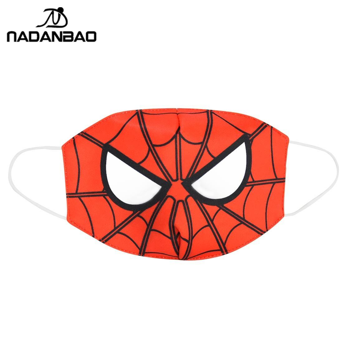 NADANBAO Cute Children's Face Mask Print Spider Man Mask Cotton Cute Cosplay Mouth Cover Reusable Face-masks Dust Mask Washable