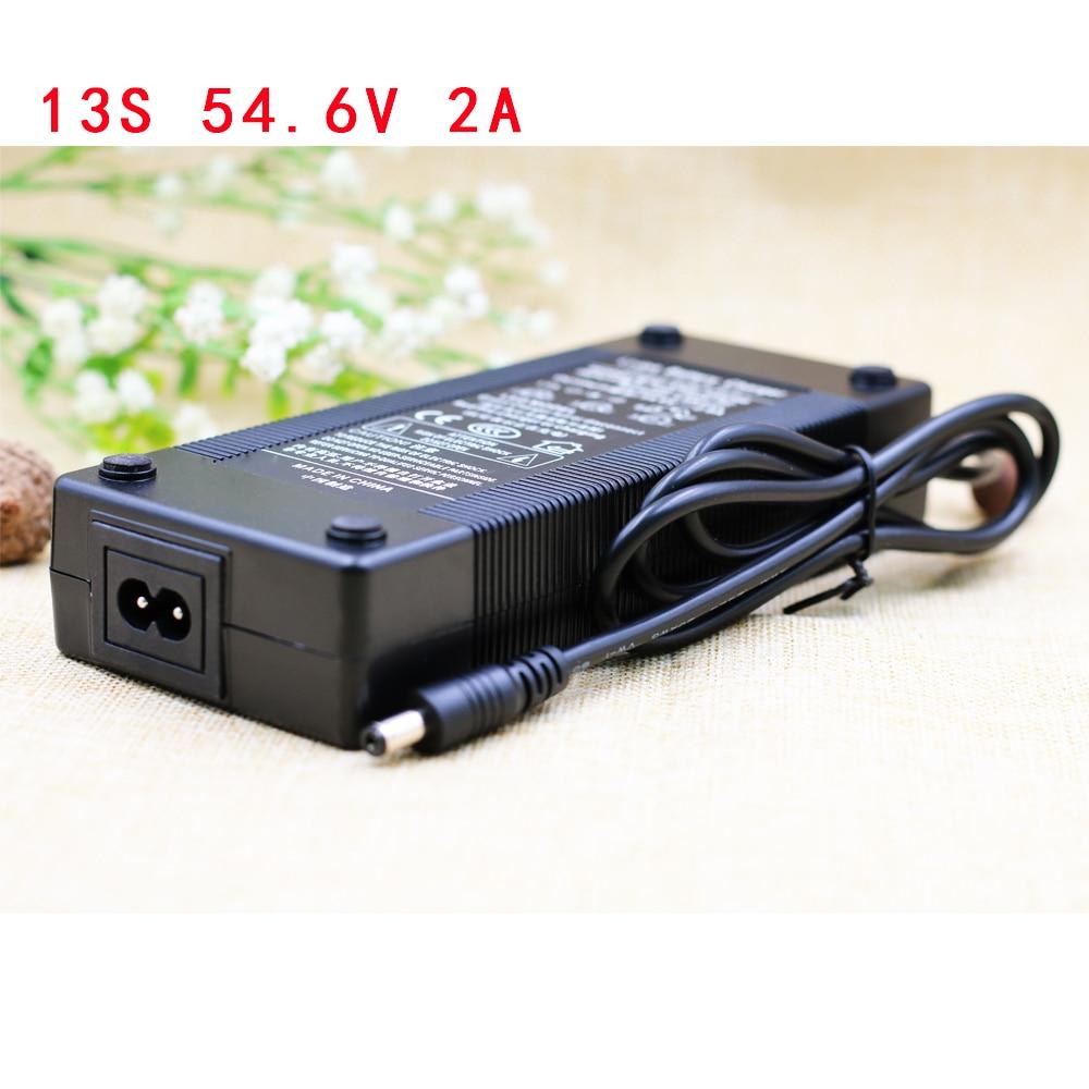 Aluoka, 13 S, 54,6 в, 2 А, 48 В, литий-ионный аккумулятор, зарядное устройство, 5,5*2,1 мм, универсальный AC DC адаптер питания, EU, US, AU, UK Plug