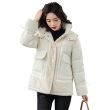Lingwave/зимняя короткая модная женская куртка из искусственного