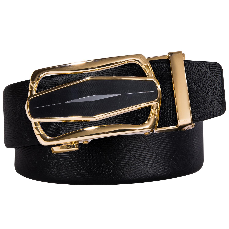 Men Belt Automatic Genuine Leather Luxury Black Belt Men's Belts Automatic Buckle High Quality Brand Belt Set With Box DiBanGu