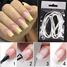 1m/2m/5m Nail Art Fiberglass for UV Gel DIY Nails White Acrylic Nail Extension Tips Manicure Tool Fiber Nail Silk цены