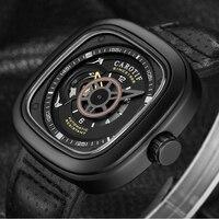 2019 CAROTIF Assista relogio masculino Tendência Da Moda Dos Homens Marca de Topo Relógio Mecânico Automático Oco Quadrado Grande Mostrador do Relógio Dos Homens|Relógios mecânicos| |  -
